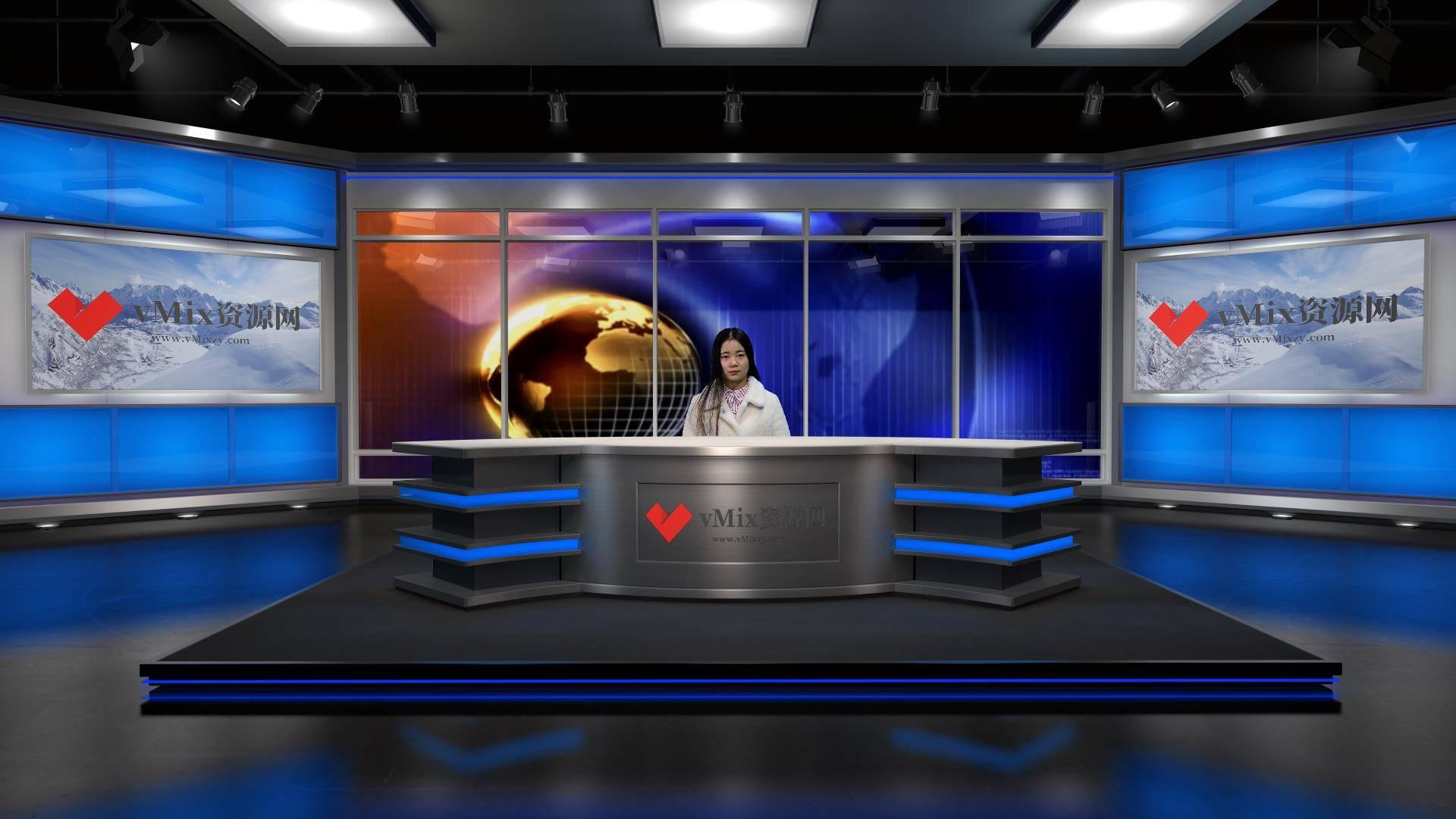vMix 虚拟集-新闻演播室-001